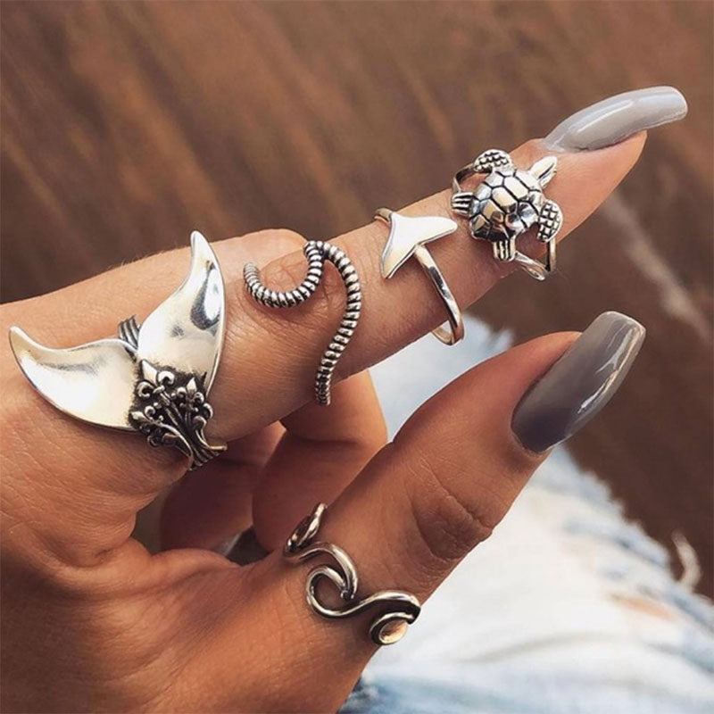 Beauties Of The Sea Ring Set