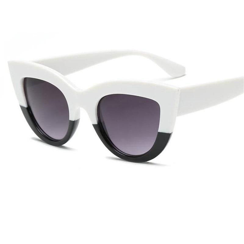 Bicolor Cat Eye Sunglasses