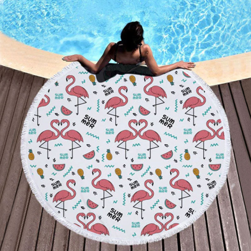 Summer Flamingos Towel