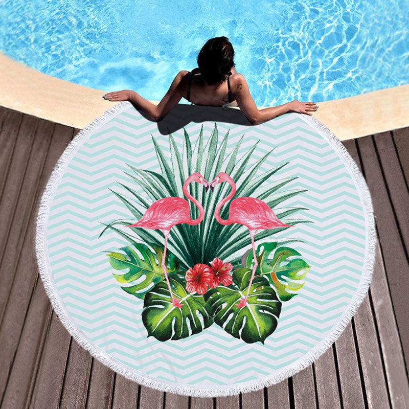 Paradise Flamingo Beach Towel
