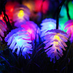 "20 LED Solar Christmas Decoration ""Pine Cone"""