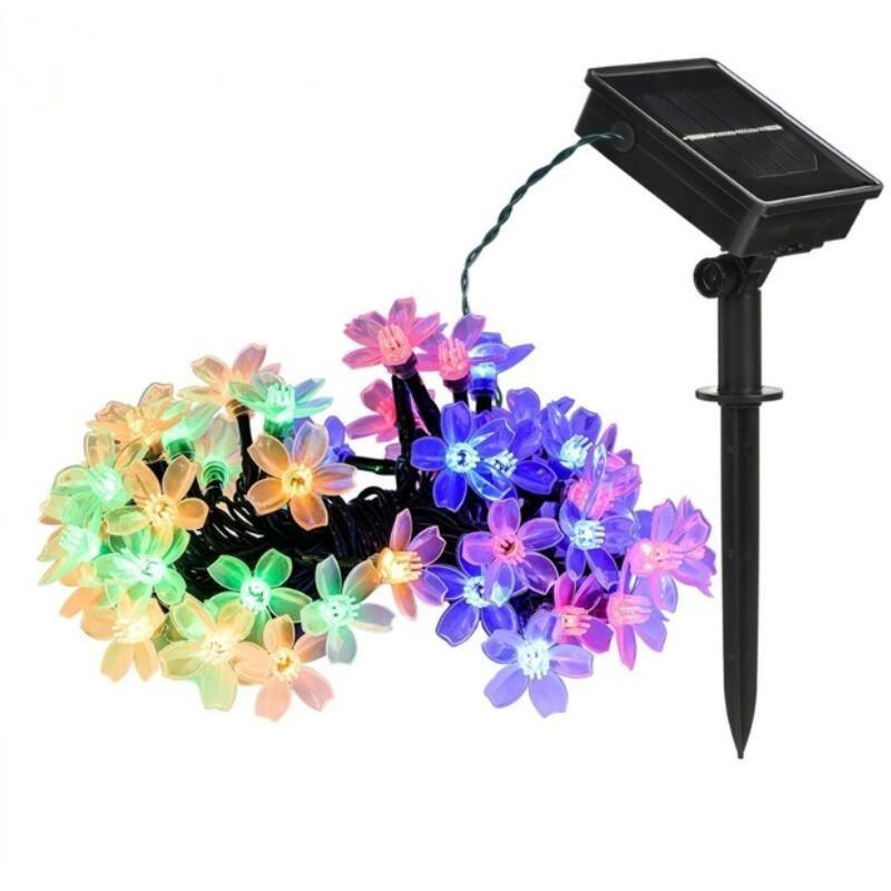 7m 50LED Solar String Flowers Fairy Lights