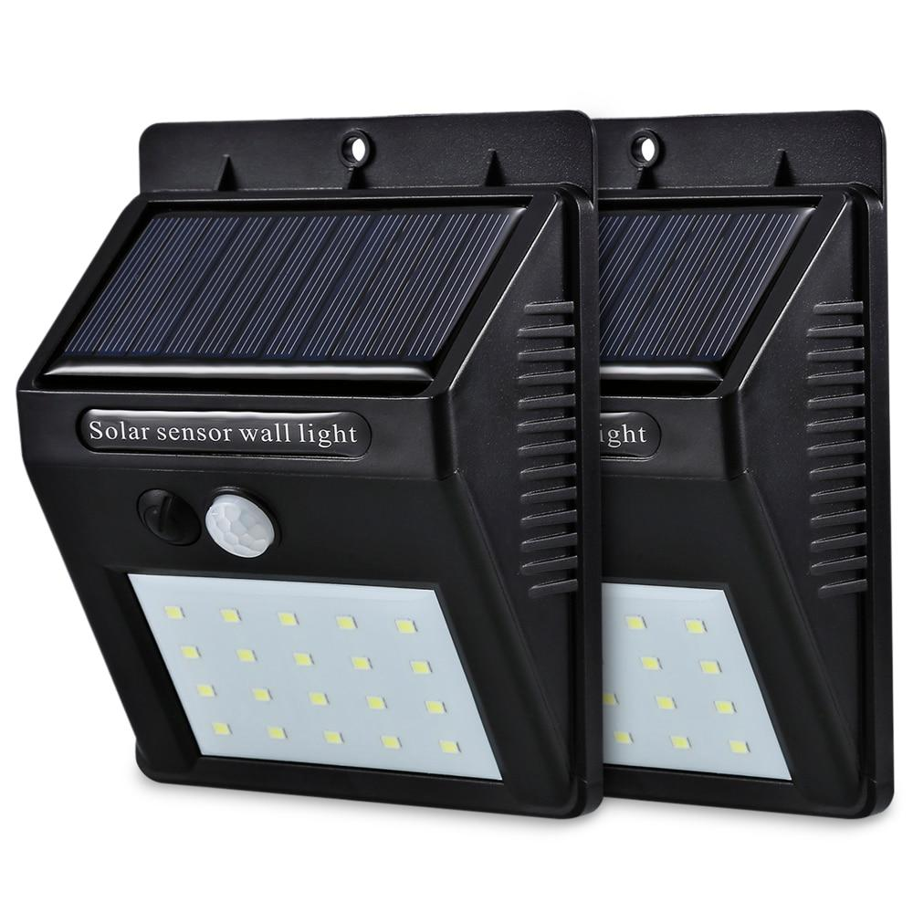 20 LED Solar Powered Motion Sensor Wall Light