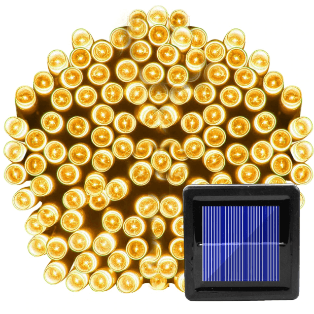 7M 50 LED  Warm White Solar Christmas Lights