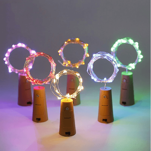 20 LED Solar Powered Fairy String Lights with Cork