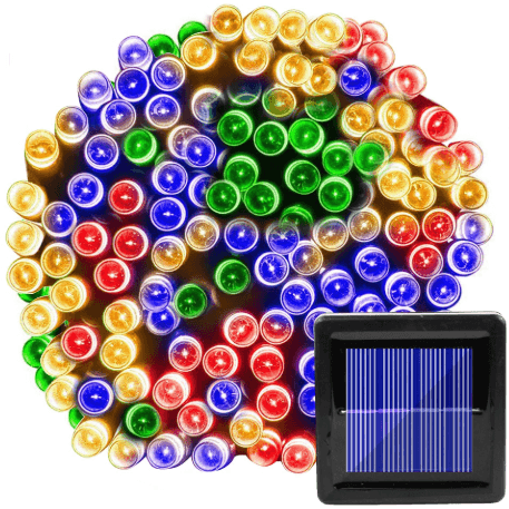 7M 50 LED  Multi-Color Solar Christmas Lights