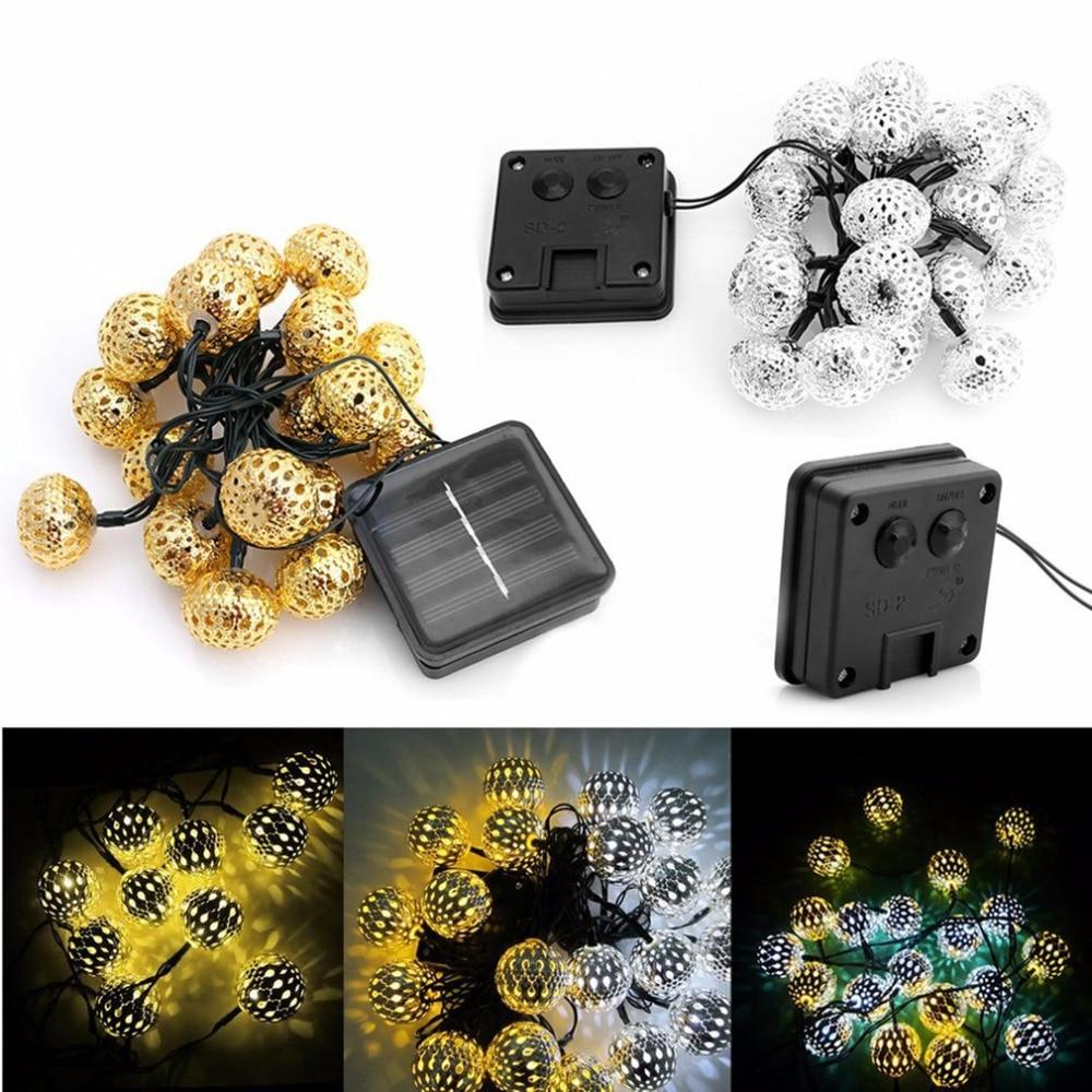 20 LED Solar Ball Lights
