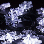 20 LED Solar string lights (Moon, Pentagram and Snowflake Shaped)