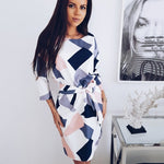 Geometric Printed Straight Dress