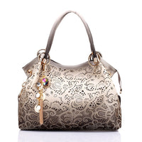 Leather Floral purse