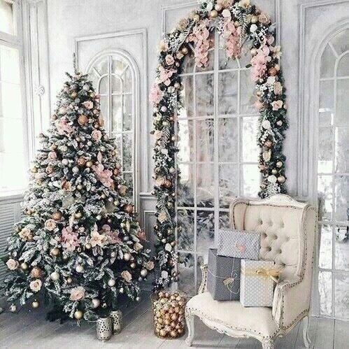Big Space Pink Christmas Tree Decorations
