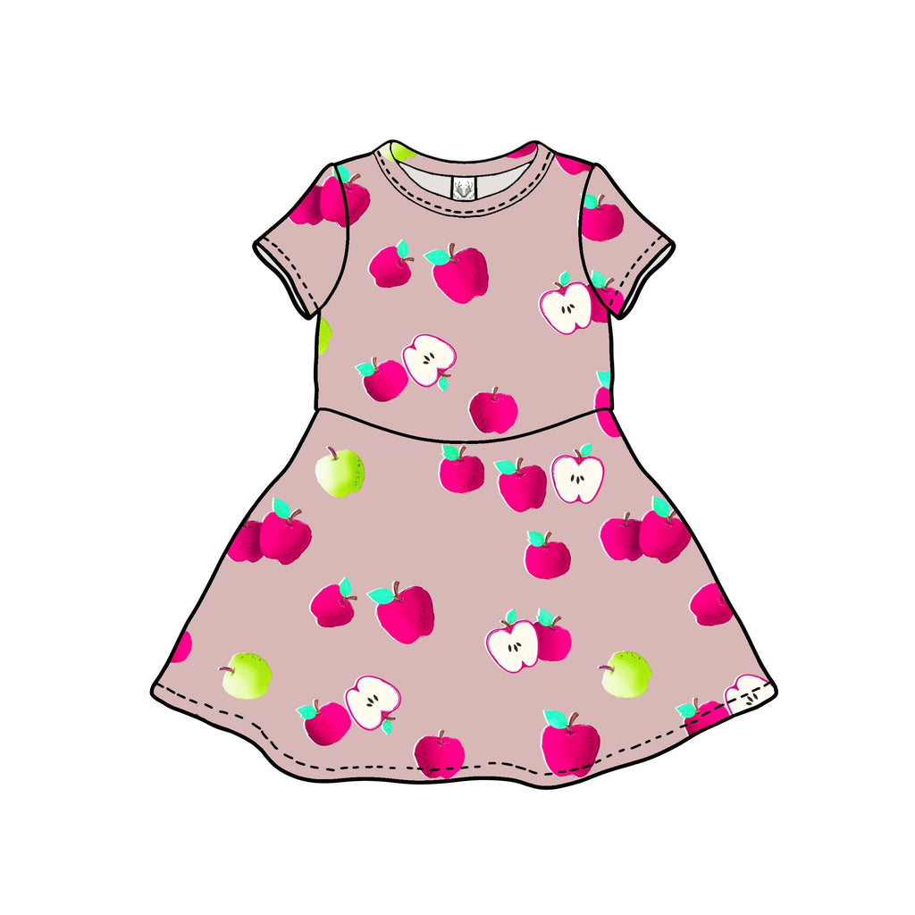 The Margaret Play Dress, Short Sleeve; Apple Picking