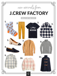 Gah! J.Crew and J.Crew Factory just dropped a ton of new arrivals, and they're so good