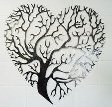 Foxy Metal Tree Art