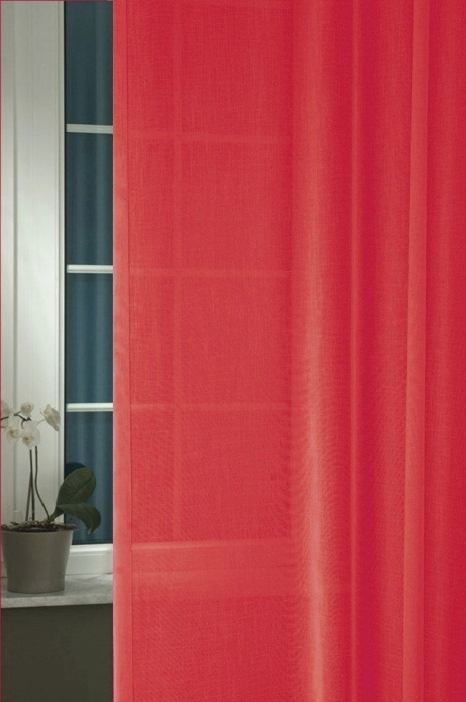 Comfort Red Sheer Curtains