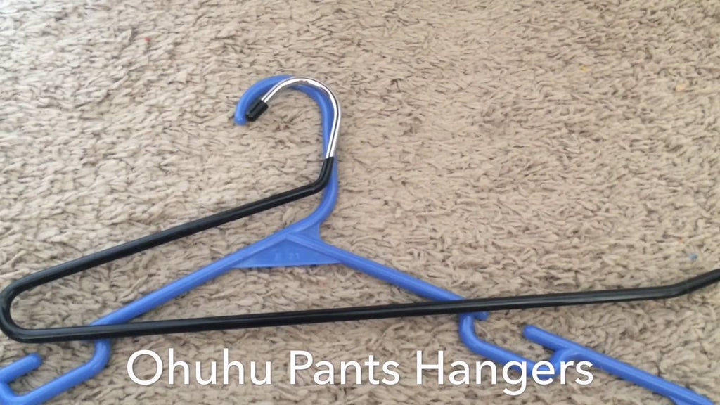 Demonstration of Ohuhu Pants Hangers - 12 Pack