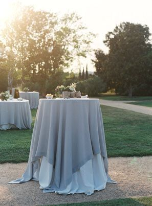 Elegant Slate Blue Tablecloth