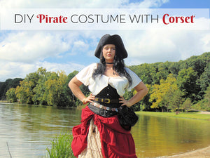 DIY Plus Size Women's Pirate Costume with Corset