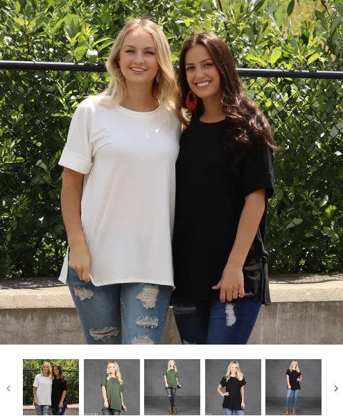 Order Here—> Rolled Sleeve Tunic Top | S-3X for $12.99 (was $24.99) 3 days only.