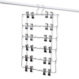 Emstris Skirt Hangers Pants Hangers Closet Organizer Stainless Steel Fold up Space Saving Hangers