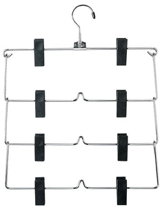 Honey-Can-Do CHR 4Tier Skirt Hangers Chrome