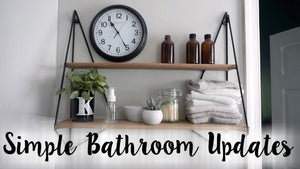 I finally finished a very simple, easy, and budget friendly update to our two full bathrooms