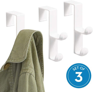 iDesign Over the Door Plastic Dual Hook Hanger, Set of 3, Only $5.67