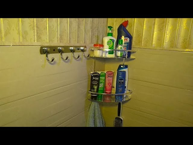 How to Fit Aluminium Bathroom Corner Rack #Home#Repairs#DIY.