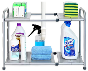 Under sink 2 tier organizer