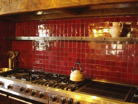 Exciting Red Kitchen Backsplash