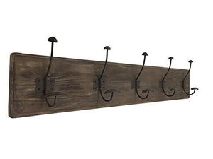 AVIGNON HOME Rustic Coat Rack with Hooks Vintage Wooden Wall Mounted Coat Rack 38 inches Wide and 7 inches high for Entryway Bathroom and Closet