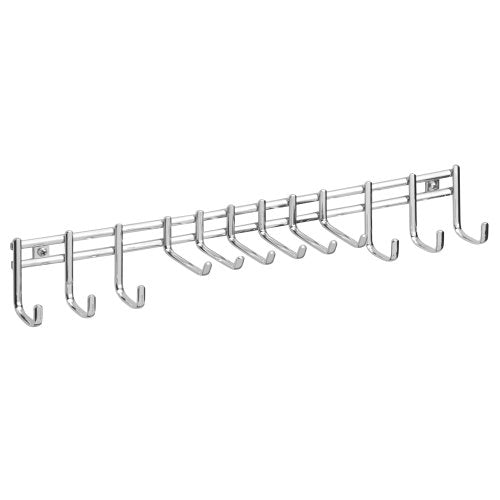 InterDesign Axis Wall Mount Closet Organizer Rack for Ties, Belts - Chrome
