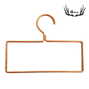 5 Pack Square Iron Scarf Hanger Wall Mounted Towel Ring Belt Hanger Stainless Steel,Rose Glod,Bathroom Bedroom Wardrobe Living Room