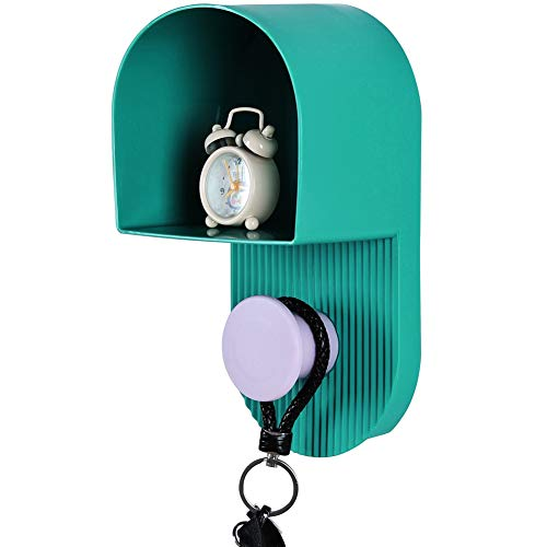 EZY HOMEWARE Mail Organizer Wall Mount, Letter Holder with Key Rack, Keys Hook for Entryway, Doorway, Office, Bathroom (Dark Green)
