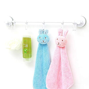 Ping Bu Qing Yun Towel Rack-ABS, Punch-Free, 8 Hooks, Suction Cup Bathroom Towel Rack, Suitable for Bathroom, Kitchen, Home. Towel Rack (Color : Silver Gray)