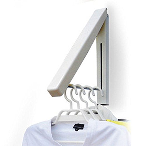 hothuimin Folding Clothes Hanger Wall Mounted Retractable Clothes Rack Home Storage Organizer Wall Hanger for Clothes#12-ZDYJ