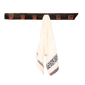 Ping Bu Qing Yun Creative Retro Bathroom Retro Bathroom Bathroom Toilet Single Rod Retro Towel Rack Wall Towel Rack Small India 62cm5.5cm4cm Towel Rack