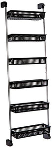 Neu Home Over the Door 6-Basket Hanging Storage Unit with Hooks