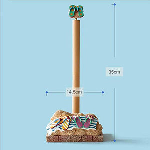 DEED Home Decoration Crafts Paper Towel Holder Creative Pastoral Beach Shoes Resin Kitchen Tissue Box Paper Roll Holder Simulation Artwork
