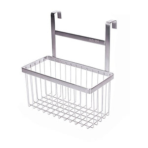 kaileyouxiangongsi Over The Cabinet Kitchen/Bathroom Storage Organizer Basket Rack, Sandwich Bags, Cleaning Supplies - Large, Stainless Steel
