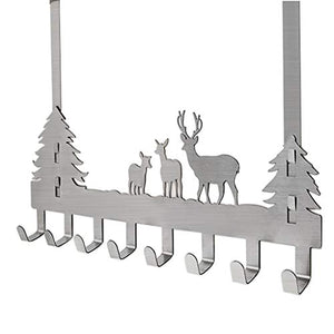 LAXF-Wall Coat Racks with Hooks/Door Back Coat Hook,Vintage Metal Deer Wall Hooks,Decorative Organizer Hooks for Clothes, Coat, Hat, Belt, Towels,Stylish Over Door Hanger for Home or Office Use (8