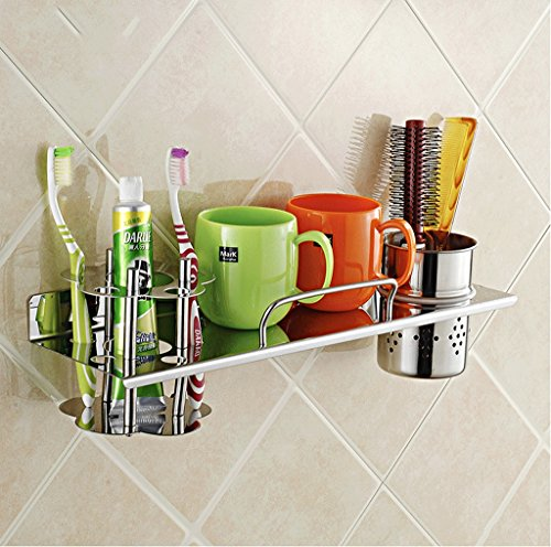 304 Stainless Steel Toothbrush Holder Set Wall Bathroom Bathroom Toilet Rack