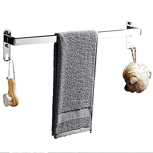 Ping Bu Qing Yun Towel Rack - 304 Stainless Steel, Mirror, Multi-Function, Wall-Mounted Bathroom Perforated Towel Rack, Suitable for Bathroom, Home, Kitchen - a Variety of Sizes to Choose from Towel
