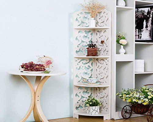 Miss Arthur's Mall 4 Tier Waterproof Wood Book Shelf Shoes Rack Shelves Holder Storage Home Organizer 120x23x23cm