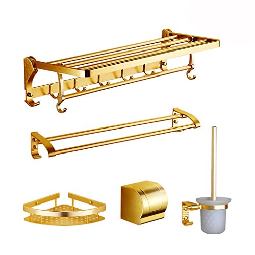 Ping Bu Qing Yun Towel Rack - Aluminum Alloy, Multi-Function, Folding Rack, Wall-Mounted Bathroom Perforated Towel Rack, Suitable for Bathroom - A Variety of Styles to Choose from Towel Rack