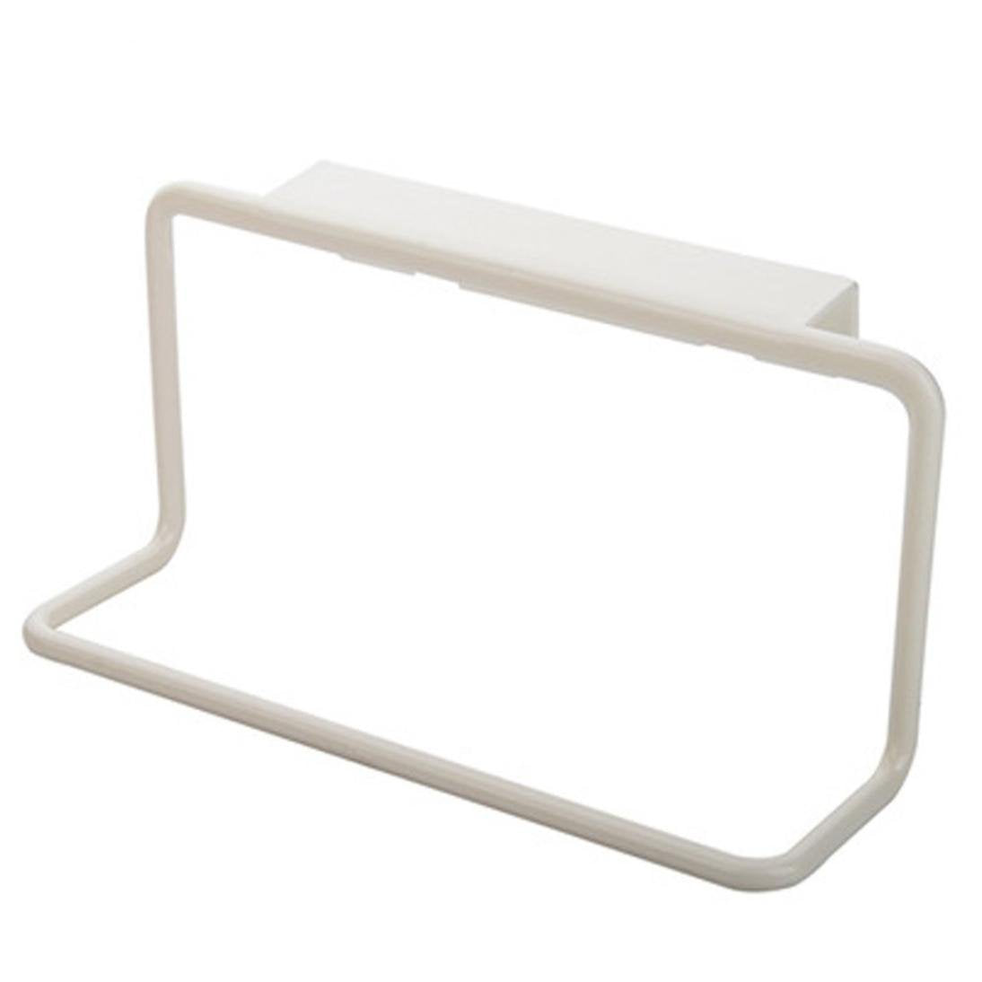 DZT1968 Towel Rack Hanging Holder Organizer Bathroom Kitchen Cabinet Cupboard Hanger (White)