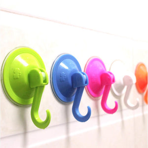 10PCS Suction Cups Hooks , Removable Plastic Window Cup Hook For Kitchen & Bathroom , Heavy Duty Powerful Vacuum Wall Shower Holder Hanger , For Towel , Bath Robe , Coat , Loofah , Key Color Randomly