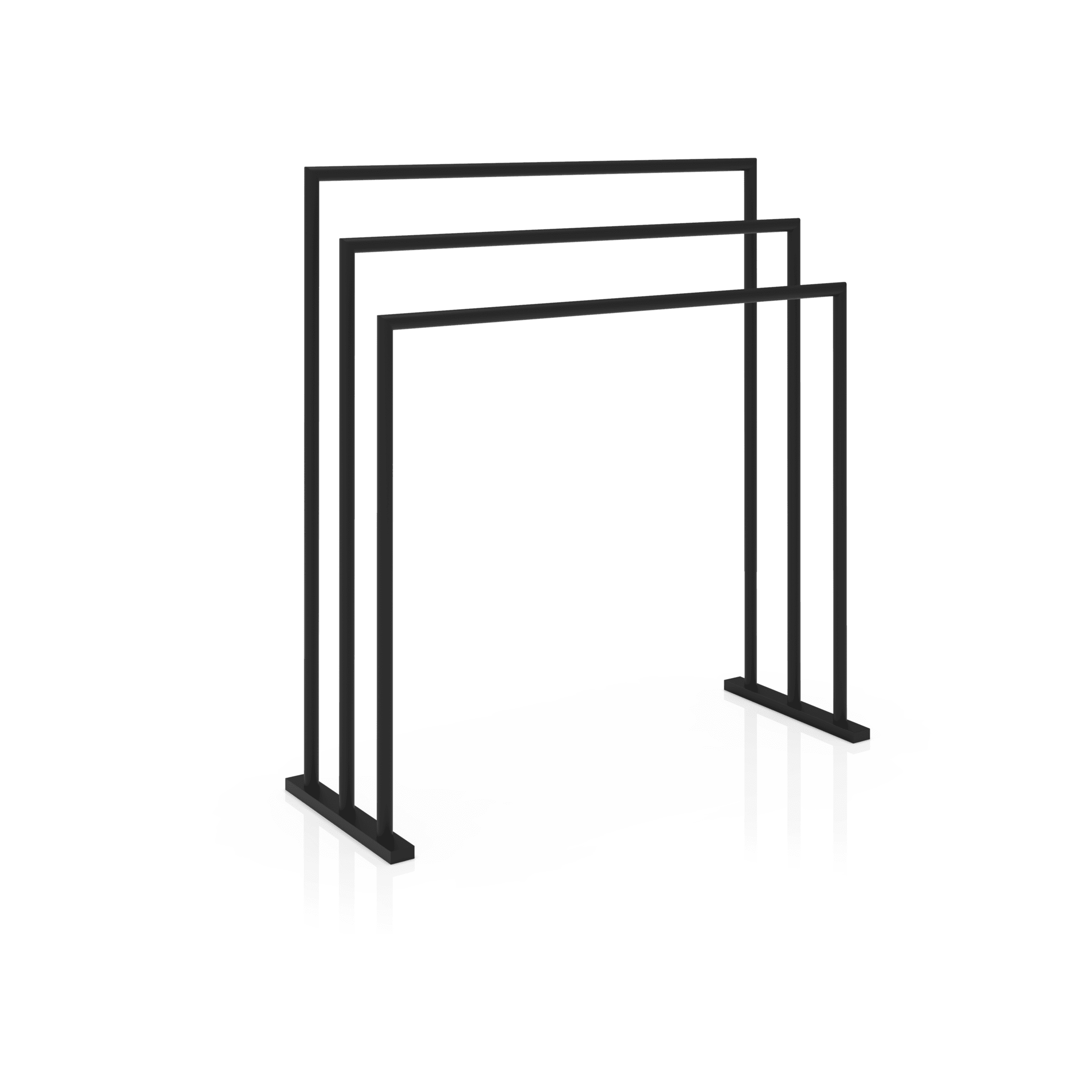 DWBA Freestanding Towel Bathroom Rack Stand 3 Tier Towel Holder, Matte Black