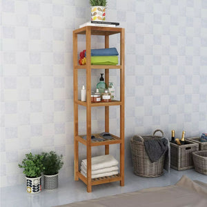 Bathroom Shelf Solid Walnut Wood 36x36x145 cm
