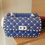 Flap Shoulder Bag Blue